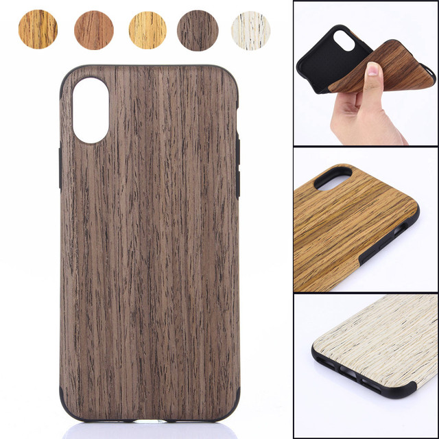 the best attitude aa08e 24987 US $4.6 30% OFF|Phone Case Wood Cover Case Premium Finish Unique Protective  Cover For Iphone XS/XS Max/XR 5.8/6.1/6.5inch Back Coque Covers -in Fitted  ...
