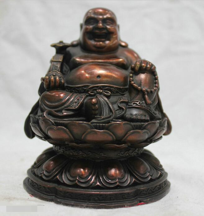 free Chinese China Culture Handmade Old Bronze Brass Statue Maitreya Buddha Sculpture fastfree Chinese China Culture Handmade Old Bronze Brass Statue Maitreya Buddha Sculpture fast