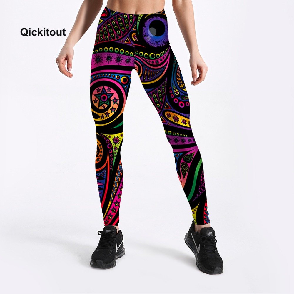2018 New Arrival Printed   Leggings   Women Fashion Summer Pants Workout Casual High Waist Plus Size Trousers S-XXXXL