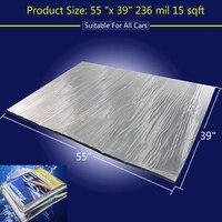 236 Mil 15 Sqft Sound Deadener Insulation Mat Noise Heat Shield Insulation Automotive Deadening Foam