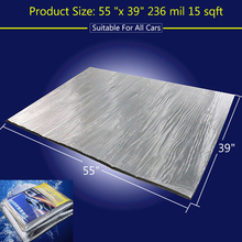 236 mil 15 sqft Sound Deadener Insulation Mat Noise Heat Shield Insulation Automotive Deadening Foam Panels 55