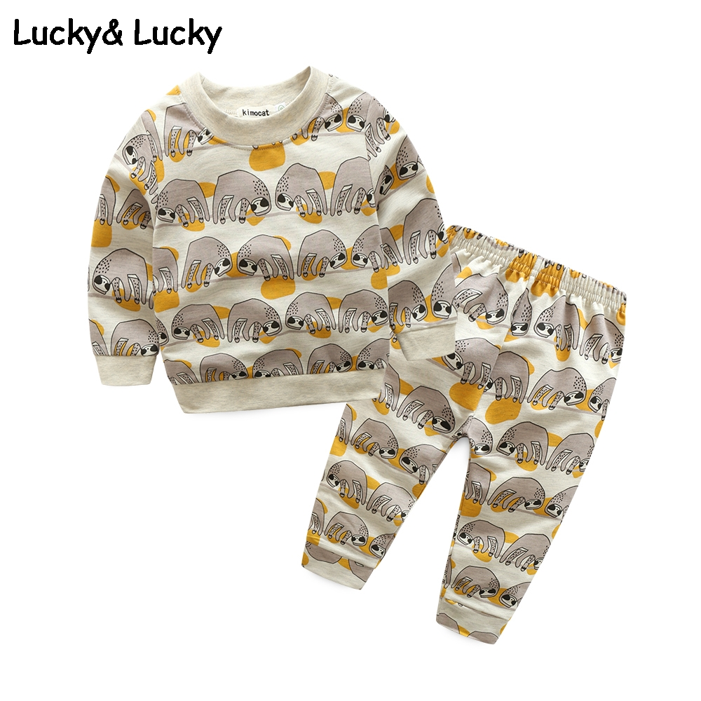 New baby boy clothes Elephant pattern clothng set newborn baby boy clothes fashion long sleeve newborn clothes 2pcs/set