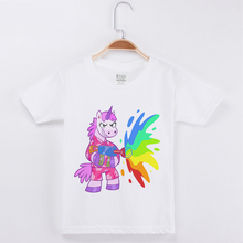Limited Time Discount Children T-shirt Unicorn/Dog Printing Cotton Child Shirts Girl Short Sleeve Kids Boy Clothes Free Shipping