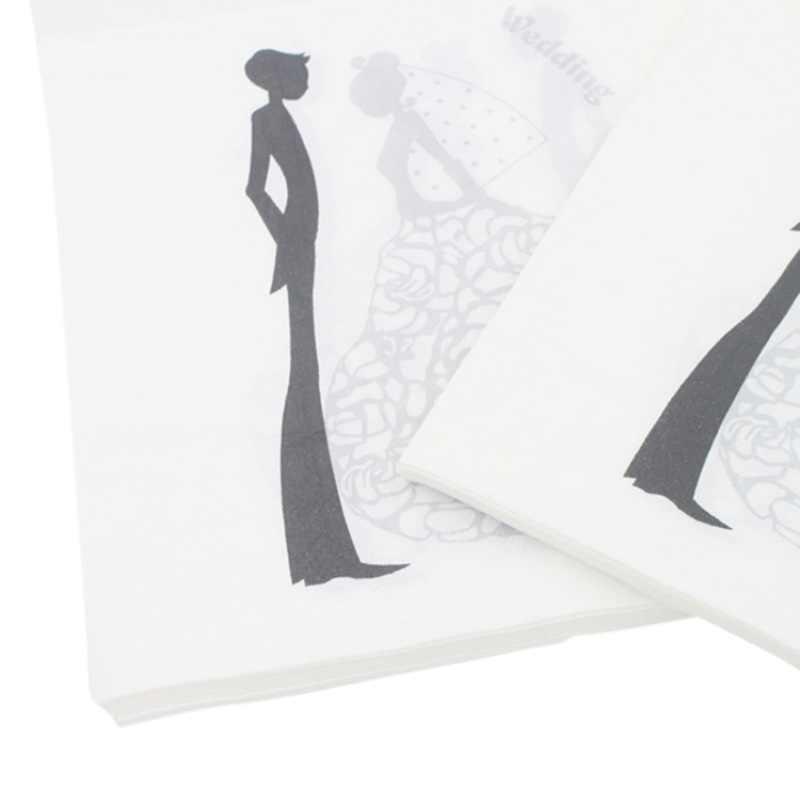 20 шт. 30*30 см бумажные салфетки для вечеринки свадебный стол декупаж свадебный душ салфетки вечерние принадлежности для декора