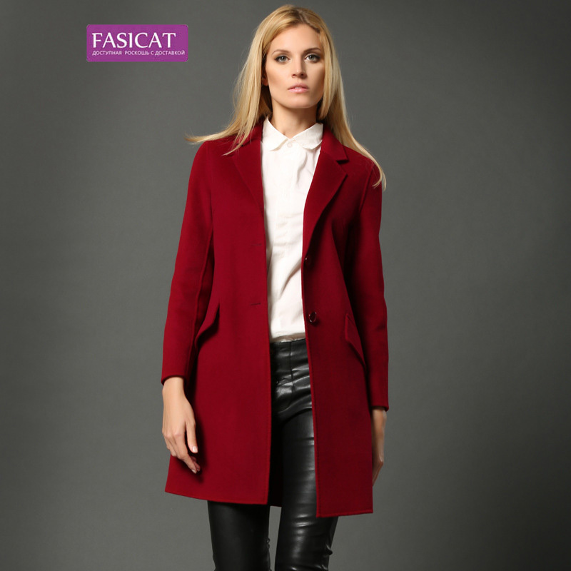 Aliexpress.com : Buy Fasicat Brand Autumn Pure Wool Coats Women ...