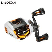 Lixada Baitcasting Fishing Reel 12+1 Ball Bearings Fly High Speed Fishing Reel with Magnetic Brake System for Pesca