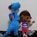 2 шт. Doc McStuffins Плюшевые Игрушки Куклы Дотти Девочка и Синий Дракон Душный Кукла