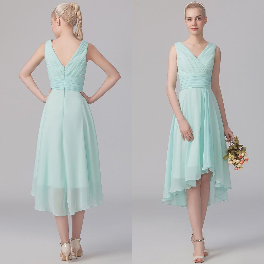 High quality bridesmaid dresses light green buy cheap bridesmaid modest high low bridesmaid dress summer ruched v neck elegant a line light green chiffon for ombrellifo Gallery