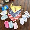 Envío gratis 3 pc/lot 100% muchachas de la ropa del bebé del algodón baberos de bebé toalla pañuelo infantil toalla bandanas chiscarf ldren # YE105