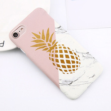 Flower Leaf Print Phone Case for IPhone X Pineapple Marble Hard PC Cover Cases for IPhone 6 6S PLUS 7 8 Plus Cases Cover Shell cheap DigRepair Bumper Dirt-resistant Anti-knock Apple iPhones Plain Transparent Business for iPhone 6 7 8 X Xs Xs Max Xr Anti-knock Dirt-resistant