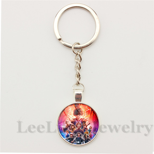 Hot Tv Jewelry Stranger Things Pendant Keychain Key Ring Porte Clef - Porte clef photo