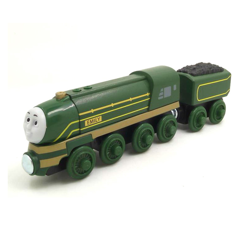 free shipping RARE Streamlined Emily Thomas And Friends Wooden Magnetic Railway Model Train Engine Boy Gift Children track Toy