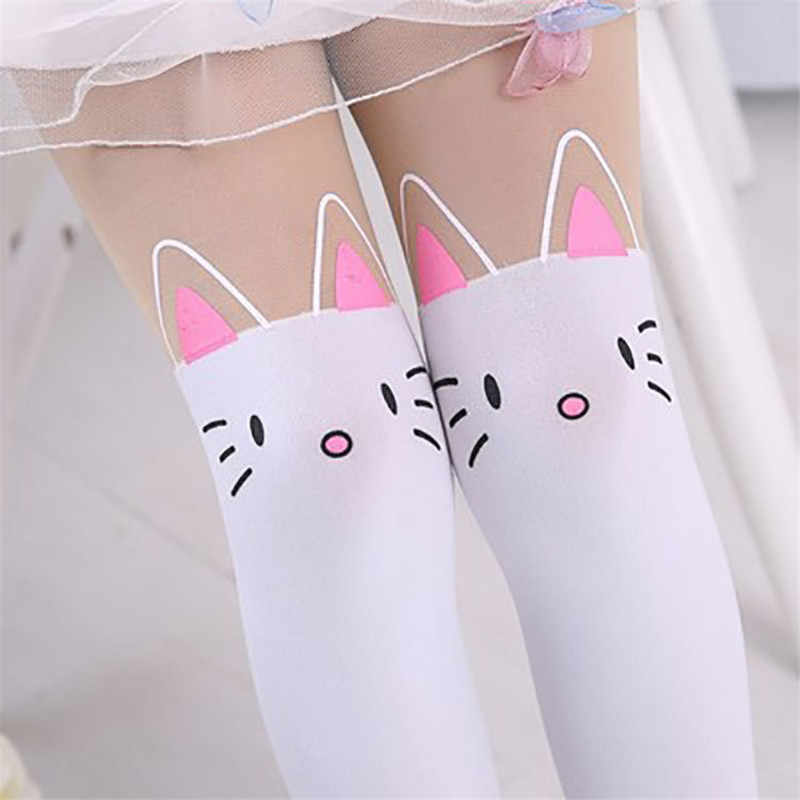 02be8a38e4a6b ... YWHUANSEN Summer Tights with a Picture Girls Kitty Dance Collant Ballet  Cartoon Kitten Pantyhose Sticky Knee ...