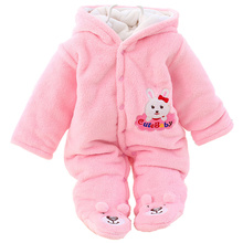 E&Bainel Winter Newborn Baby Romper Cartoon Hooded Baby Clothes Cotton Warm Infant Girls Jumpsuit For New Born Baby Boy Clothing 2017 newborn baby boy winter long sleeve cotton clothing toddler baby clothes romper warm cartoon jumpsuit for 0 12 months