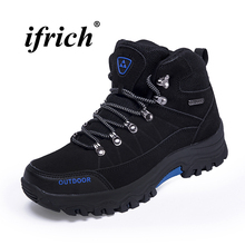 High Top Sneakers for Men Black Army Green Man Hiking Boots Plus Size 39-46 Mountain Shoes Sport Autumn Winter Trekking Shoes 2019 autumn winter hiking shoes men waterproof boots mountain shoes men leather sport sneakers blue black gray trekking boots