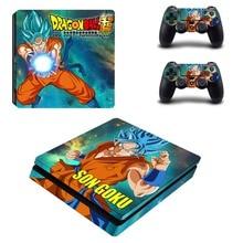 Anime Dragon Ball Super Z Goku PS4 Mỏng Da Miếng Dán Kính Cường Lực Cho Sony PlayStation 4 Và Bộ Điều Khiển Decal PS4 Slim miếng Dán Vinyl