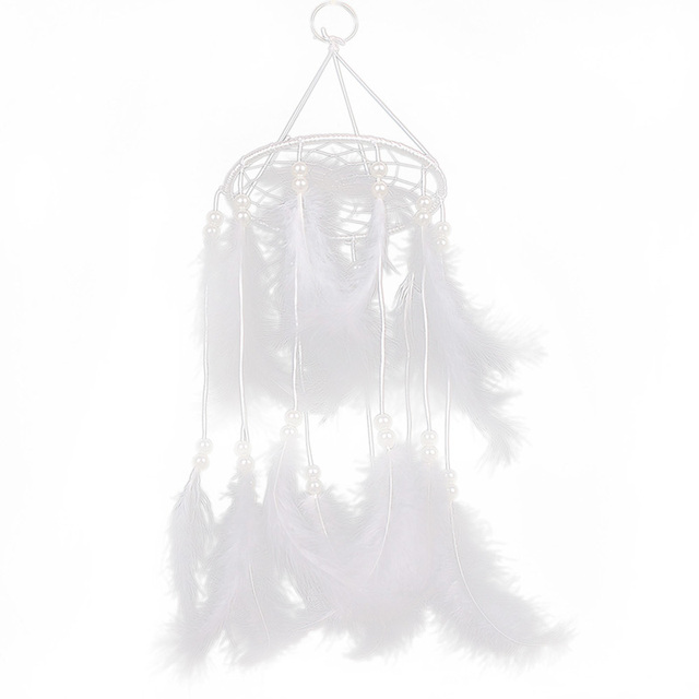 Universal Handmade Dream Catcher with Feathers Hanging Decoration Craft Gift White Room Decor adesivos para parede Dreamcatcher