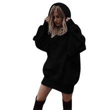 Feitong Winter Women Sweatshirt Hoodies Pullover Solid Girls Causal Long Sleeve Oversized Hoody Sweatshirt sudaderas mujer 2018