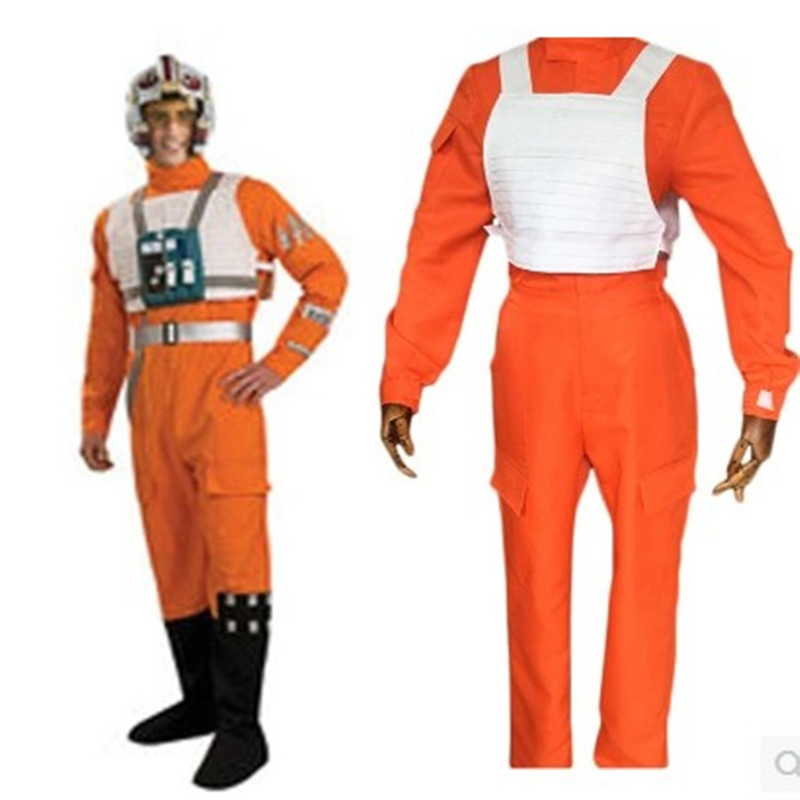 Film Star Wars aviateur armée rebelle aviateur Cosplay Costumes Halloween Costumes adulte hommes pilote uniforme combinaisons