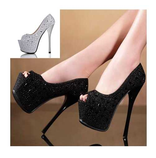 Yüksek Topuklu Kadın Ayakkabı Seksi Glitter Taklidi Platformu Kutup Dans Ayakkabıları Parti Yüksek Topuklu Ayakkabı Kutup Dans Gece Kulübü Ayakkabı