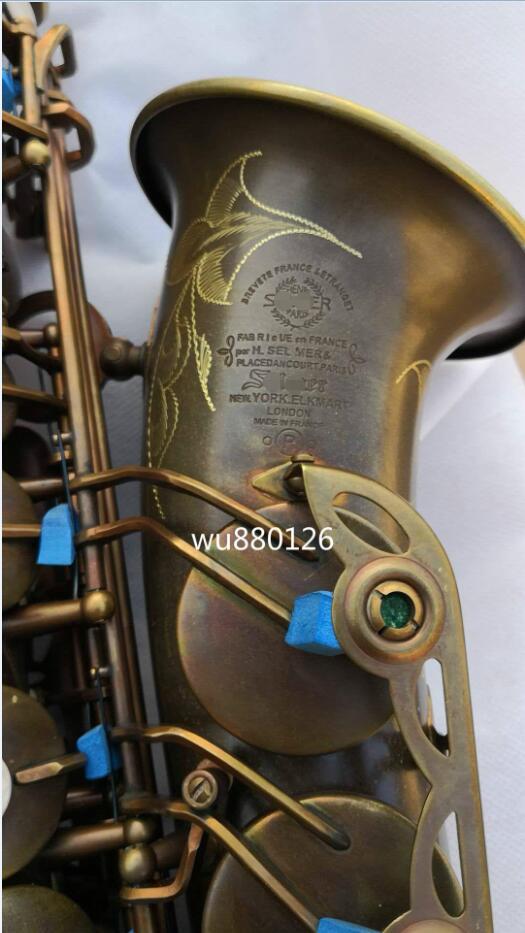 Nueva Marca VI Alto Eb saxofón tubo de latón E-plano Retro único cobre antiguo Sax un buen regalo instrumento con el caso envío gratis