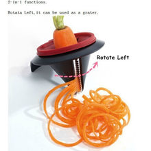 Kitchen Tools Accessories Gadget Funnel Model Spiral Slicer Vegetable Shred Device Cooking Salad Carrot Radish Cutter 1pcs