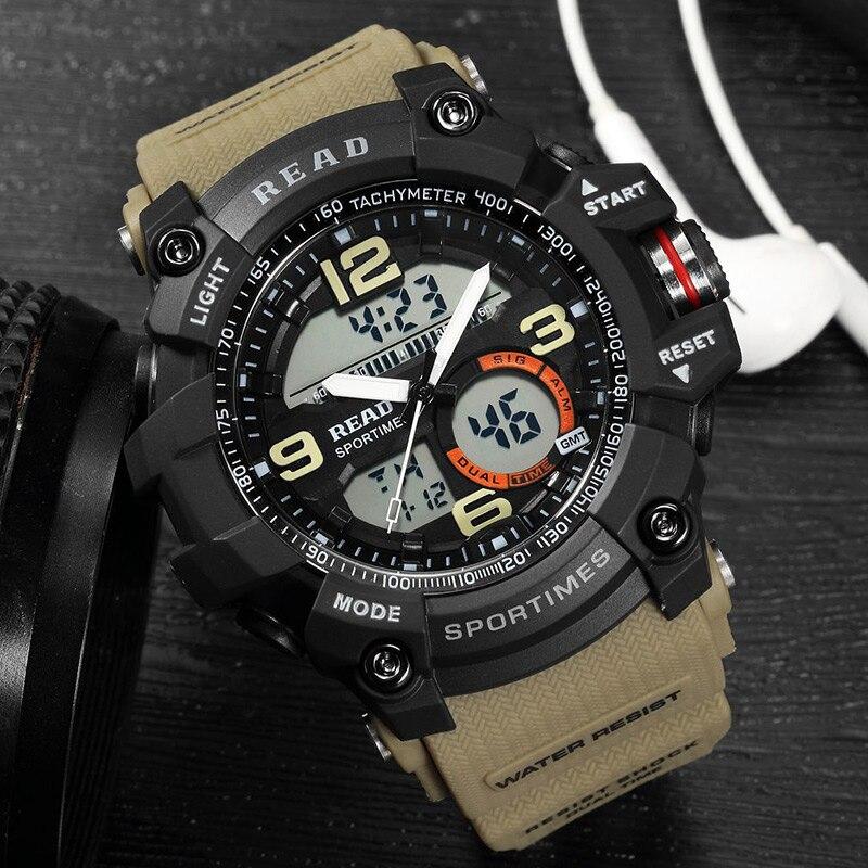 fcef513d9c4 LEIA 2017 tamanho grande top esportes baratos relógios dos homens relógios  de pulso Masculino Relógio eletrônico de Alarme horas pulseira de silicone  em ...
