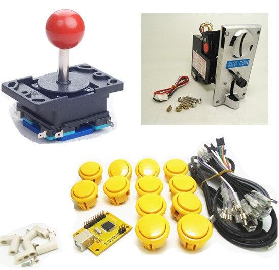 все цены на 1 kit of single coin single player PC/ PS 3 joystick controller, USB to Jamma arcade game, Arcade control panel keyboard encoder онлайн