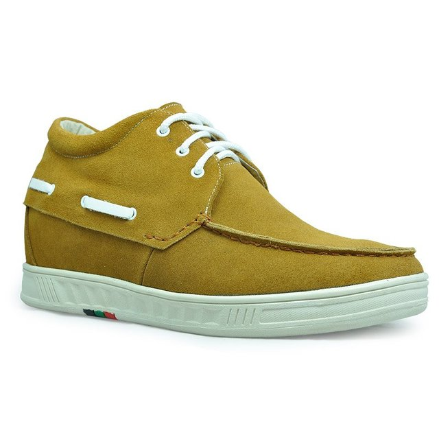 9091H - New men's suede sports height casual elevating shoes -lift height 7CM Black/Brown/Yellow - Dropship / Wholesale