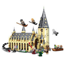 New 926pcs Legoings Harry Potter Hogwarts Castle Auditorium DIY Model Building Blocks Kit Children Education Toys Birthday Gift(China)