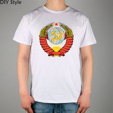 Emblem Ussr Cccp t-shirt Male short-sleeve Lycra Cotton Top New Arrival Fashion Brand T Shirt For Men