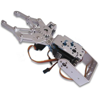 1 Set 2 DOF Aluminum Robot Arm Clamp Claw Mount Kit No Servo Un Assembly Fit