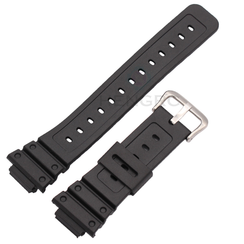 цена на 16mm X 25mm Rubber Watchbands High Quality Men Sports Silicone Watch Strap Band For Casio 5600 Series Watch Accessories