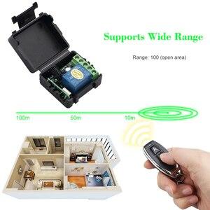 Image 3 - Kebidu 1Pc trasmettitore RF telecomandi 433 Mhz con interruttore telecomando senza fili modulo ricevitore relè DC 12V 1CH