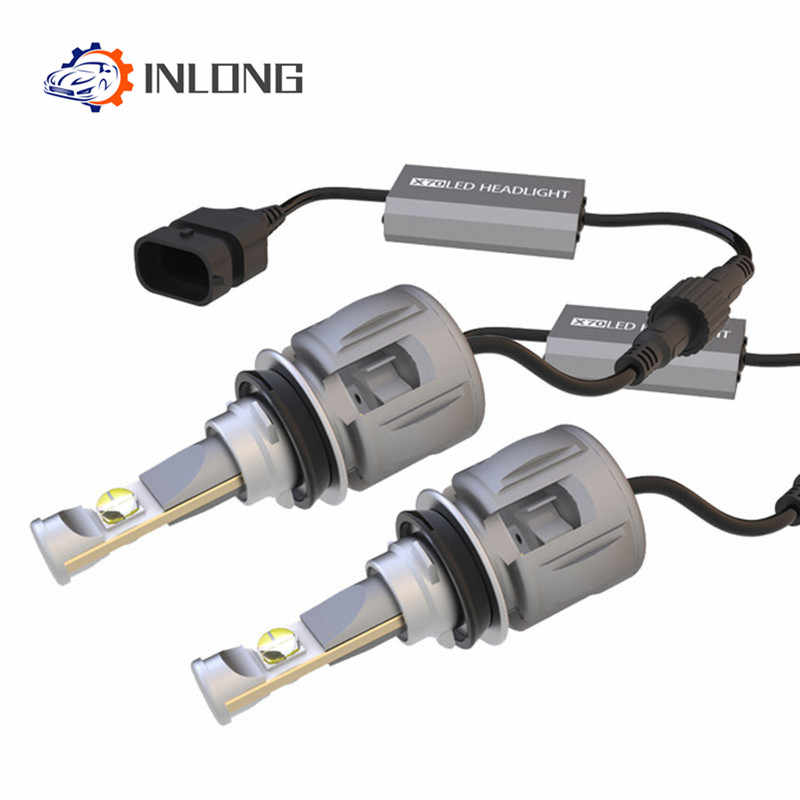 INLONG X70 2Pcs H7 H1 9005 9006 Car H4 LED Headlight Bulbs H11 H8 D1S D2S D4S hp Led Lamp Chip H9 Led Headlamp Fog Lights  6000K