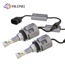 INLONG X70 2Pcs H7 H1 9005 9006 Car H4 LED Headlight Bulbs H11 H8 D1S D2S D4S hp Led Lamp Chip H9 Led Headlamp Fog Lights 6000K(China)