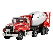1:50 Alloy American Engineering Truck Cement Mixer Model Concrete Car Simulation Construction Site Metal Toy Gift