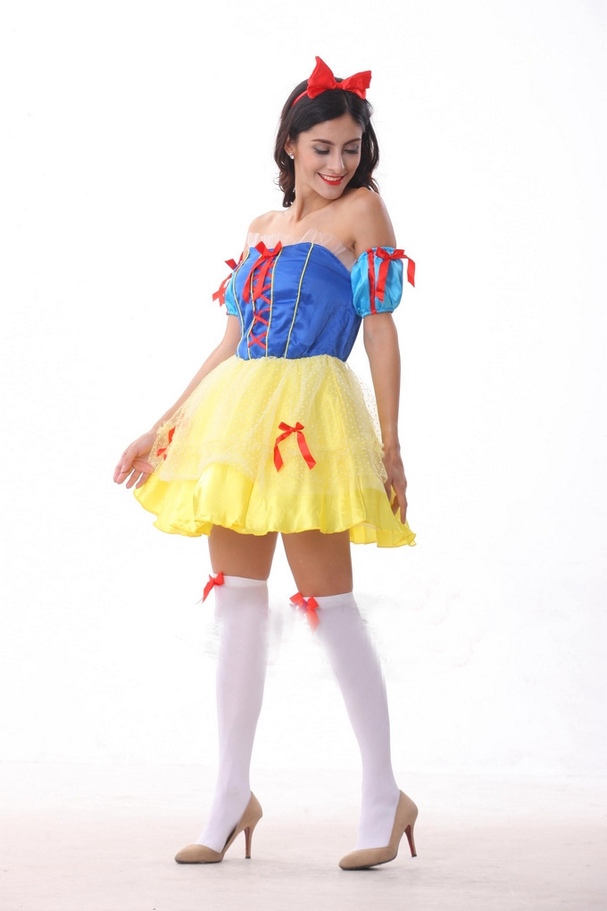 Cinderella Snow White Princess Fairy Tale Costumes For Women Sexy Fancy Halloween Cosplay Costume Home