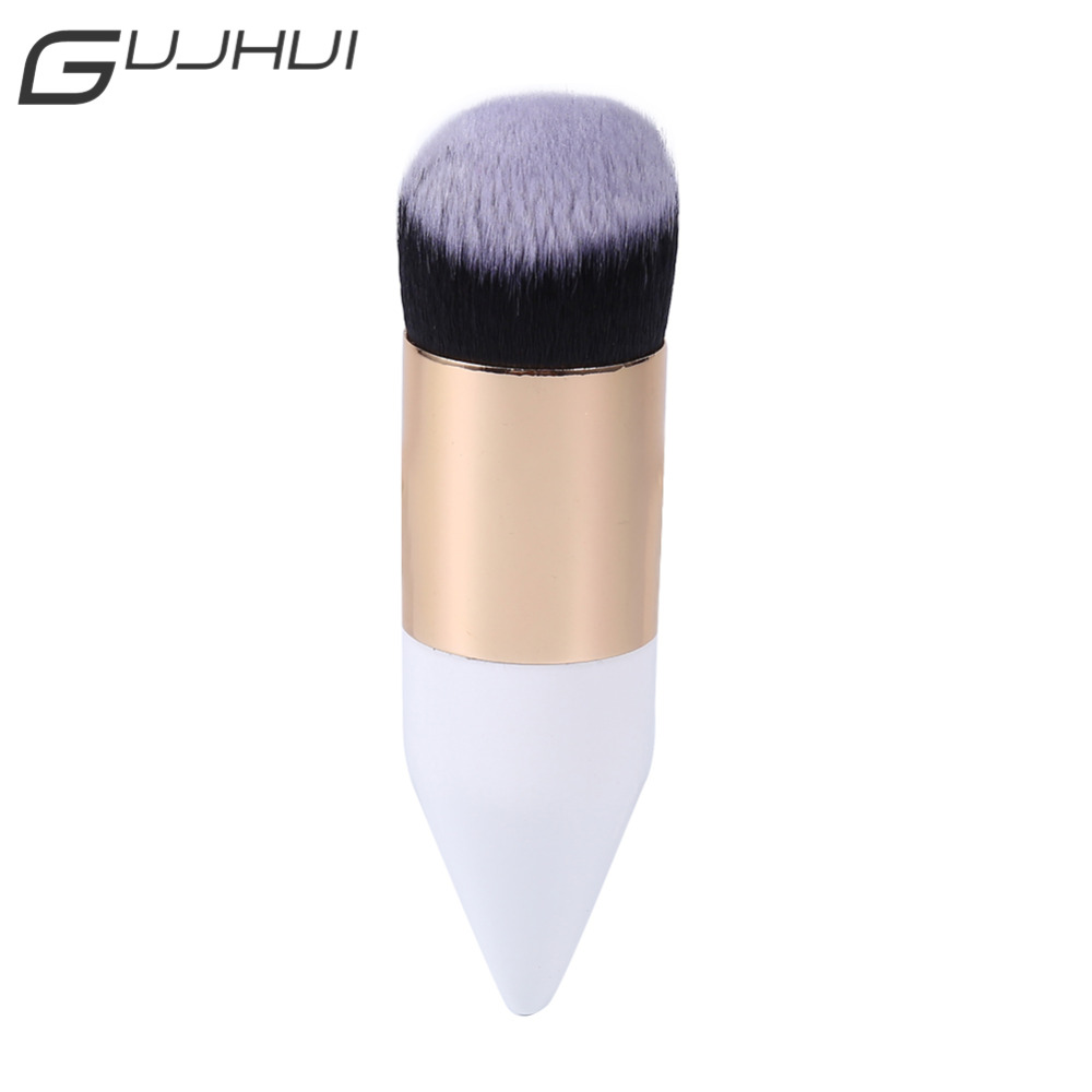 GUJHUI Blush Makeup Brushes Set Face Foundation Powder Round Large Make Up Brush Cosmetic Pencil Shaped Brushes Wood Maquiagem 8pcs rose gold makeup brushes eye shadow powder blush foundation brush 2pc sponge puff make up brushes pincel maquiagem cosmetic