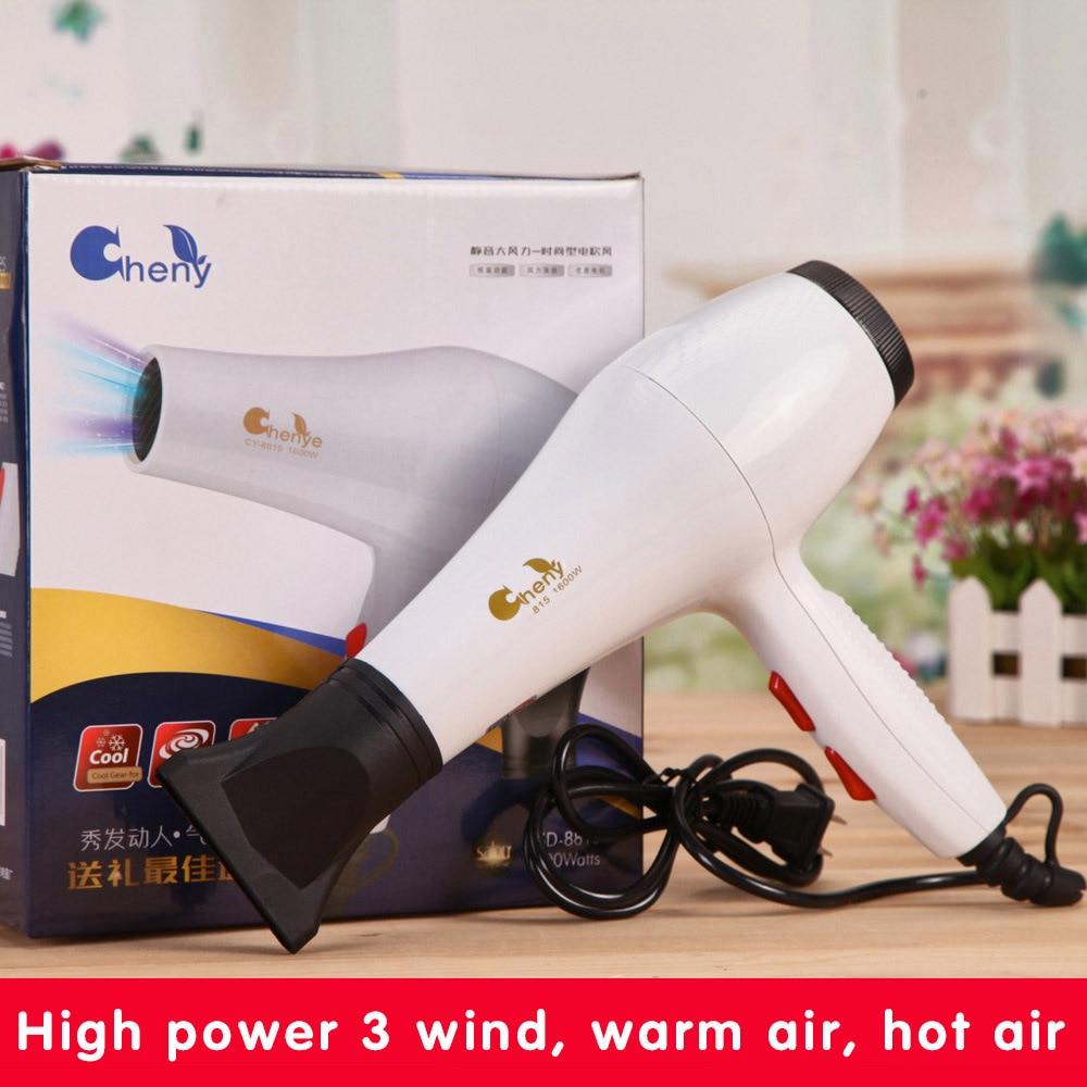 Venda quente 2000 W-Alta Potência Secador de Cabelo Profissional do Agregado Familiar Secador de cabelo Secador de Cabelo 110 V Desdobrável Lidar Com Livre grátis X-7706