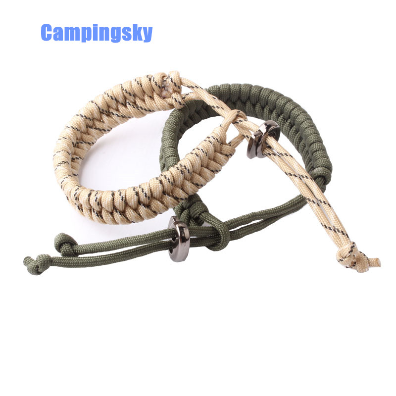 CAMPINGSKY 550 Paracord Survival Bracelet Paracord 550 Bracelet  Survival Parachute Rope Bracelet With Metal Clasp