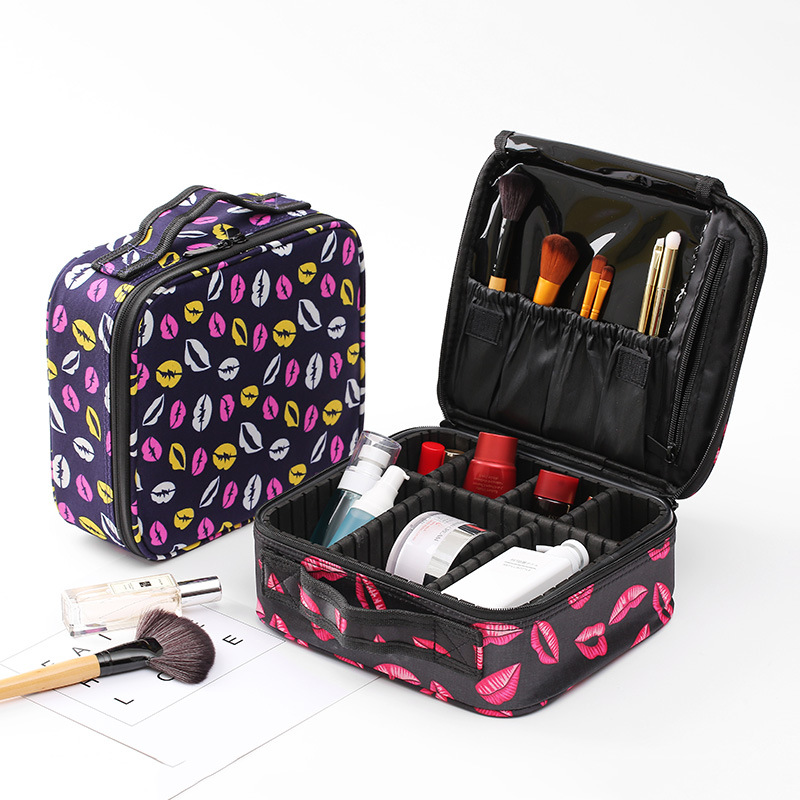 Women Portable Lips Cosmetic Bag Organizer Professional Make Up Box Travel Cosmetics Pouch Bags Beauty Case For Makeup Artist new arrival female zipper cosmetics bag large cosmetic bag women make up bags portable travel make up pouch