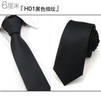6 cm estreito gravata sólida dos homens de negócios formal laço ocasional caixa de presente de casamento