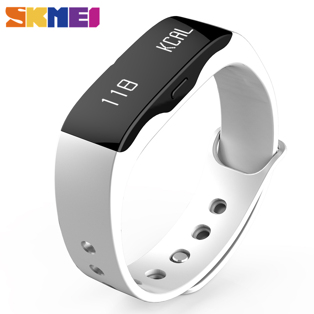SKMEI Men Women Smart Wrist Band Fashion Sports Watches L28t Outdoor Fitness Clock LED Display Call Reminder Digital Wristwatch