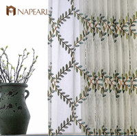 Olive European American living room bedroom a fresh new high-end manufacturers wholesale embroidered curtains screens