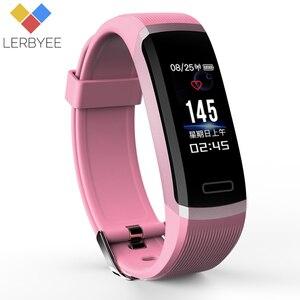 Image 3 - Lerbyee חכם צמיד GT101 צבע מסך קצב לב צג כושר Tracker Bluetooth חכם להקה שחור גברים pk FK88 W46 P8