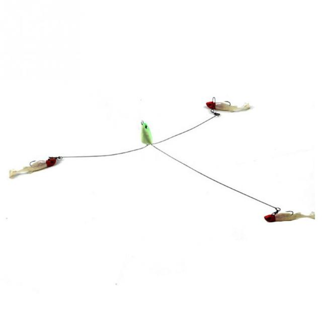 Hight Quality 3 Arms Rig Fishing Lures Bass Barrel Swivel Alabama Umbrella with 3 Wires Jigs Tools Accessories
