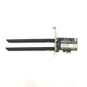 Image 2 - אלחוטי שולחן עבודה עבור אינטל AX200NGW Wi Fi 6 Bluetooth 5.0 Dual Band 2400Mbps PCI Express Wifi מתאם AX200802.11axWindows 10