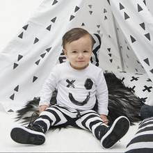 2016 New Coming Baby Clothing Suit Kids Clothes Set White Top+ Pants Set Children Set Bebe Soft Suit