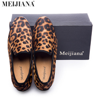 2016 New Style Leopard And Flower Printing Men S Loafers Luxury Brandcomfortable Red Cotton Insole